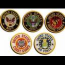 Badges Army Airforce Marines CostGuard
