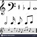 music-notes-and-symbols-with-sample-music-bar-E3J29H[1]