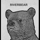 b and w Riverbear logo yellow