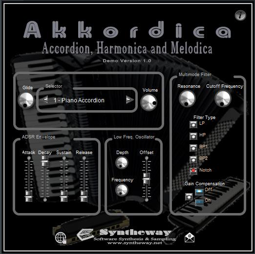 Virtual Accordion VST Plugin: Akkordica by Syntheway  VST for