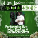 Mar Numba 4 will be performing live come out and support The I love Loud Conference